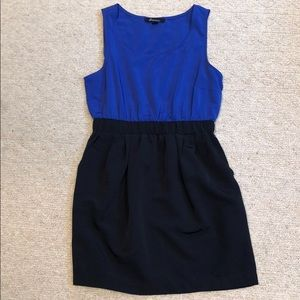 NEW Blue and Black workdress, size M, forever21